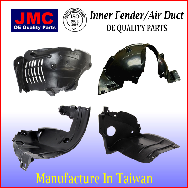 European Auto Car Parts Replacement parts Inner Fender Liner Air Duct for Smart Fortwo 4518840422
