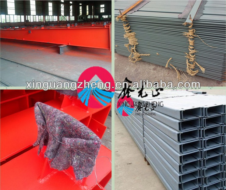 construction light steel structure ready made warehouse