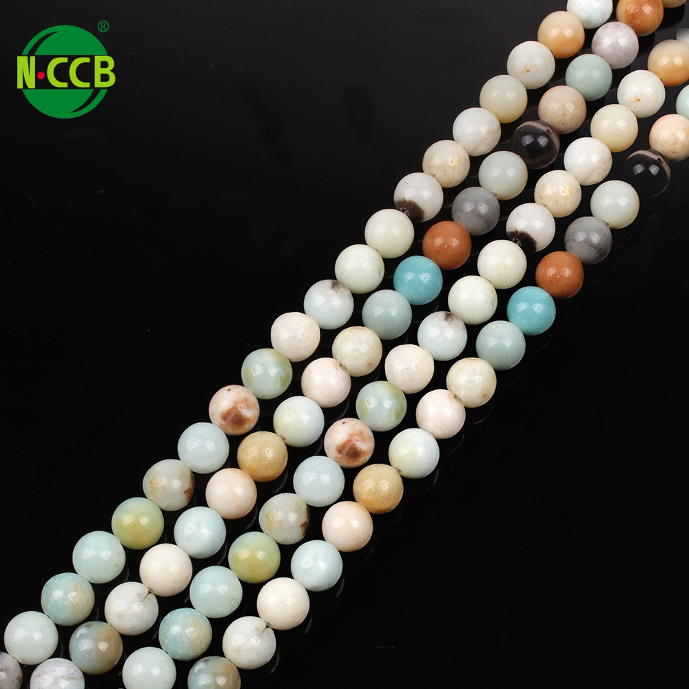 8mm Chine Amazonite ronde naturelle pierre gemme lâche perles