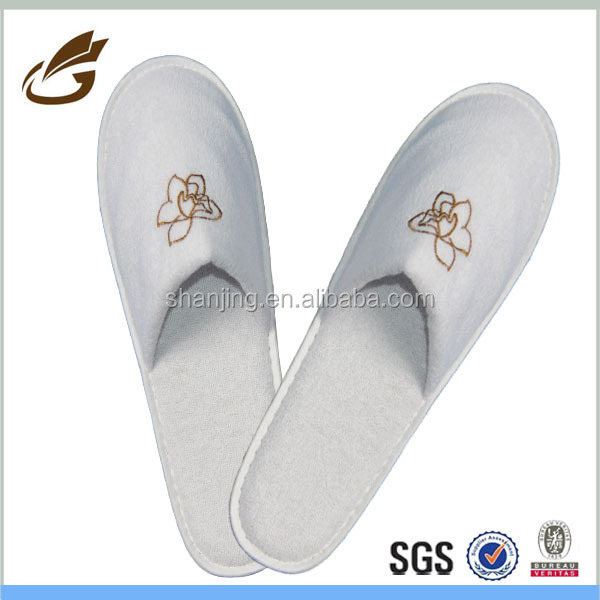 terry towel airline slipper five star wholesale folded hotel slippers