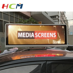 Newest Outdoor Taxi Roof Video LED Display/Full Color Car Top Sign/3G WIFI Taxi Advertising Light Box