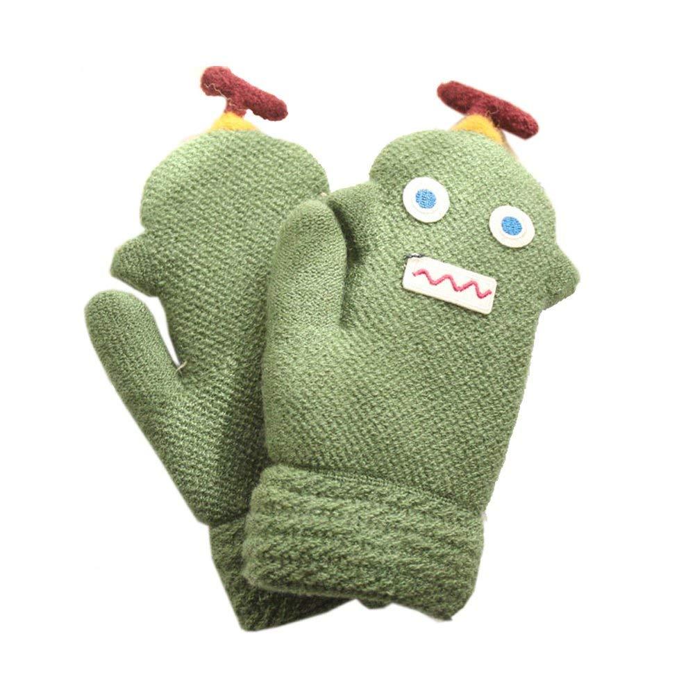 ENCOCO Boys Girls Children Winter Warm Mittens Full Finger Gloves