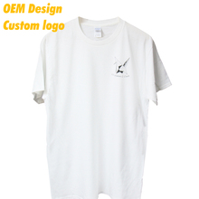Custom Logo High quality 100% cotton Embroidery custom size 160 gram White Blank Ladies Tshirt for Adult