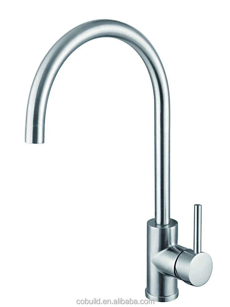 SKM-001 Brushed nickle 304 stainless steel single handle kitchen sink faucet