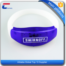 HF remote controlled silicone RFID wristband NFC LED bracelet for concert