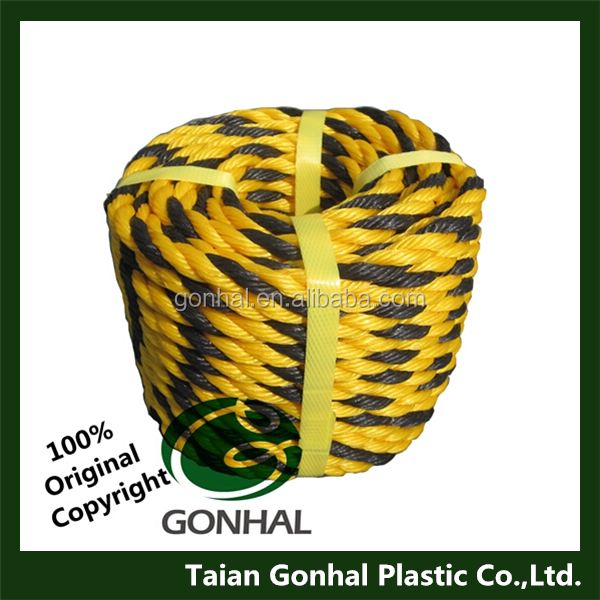 Gonhal High Quality 3 Strands Twisted Polyethylene Tiger Rope