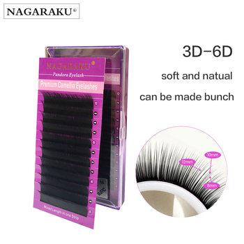 db72156070a NAGARAKU Pandora Eyelashes Camellia Eyelash 3D mink eyelash Cashmere eyelash  extension