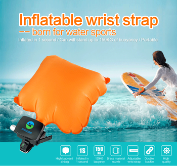 Lifesaving strap emergency self rescue swimming equipment inflabable wrist strap