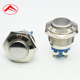 16mm flat button ring illuminate momentary or latching waterproof metal led push button switch