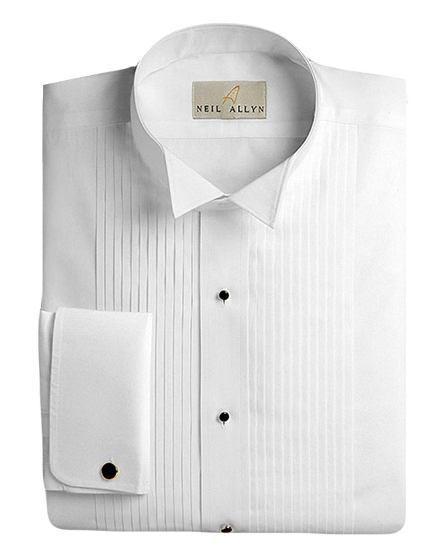 b504d048e27 Get Quotations · Neil Allyn Men's Tuxedo Shirt 100% Cotton 1/4