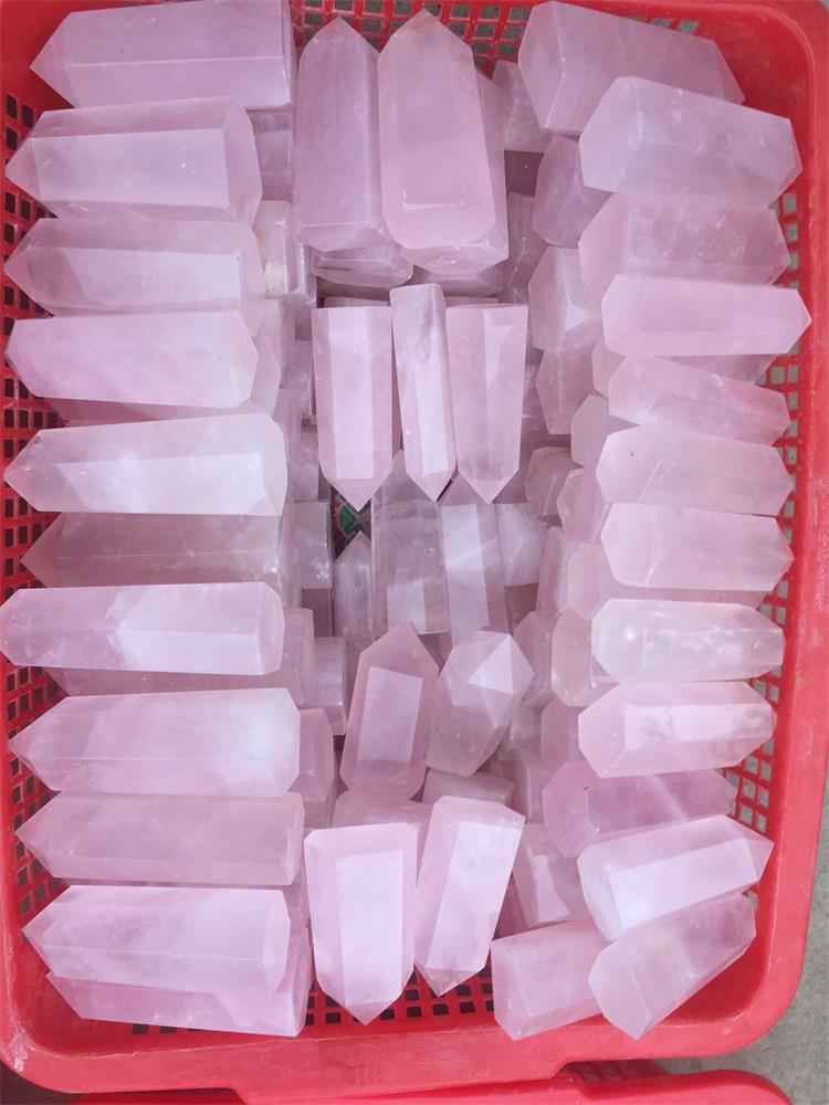 Roher rauer kleiner Phantomquarz stieg Kristallpunktstab des heißen Verkaufs