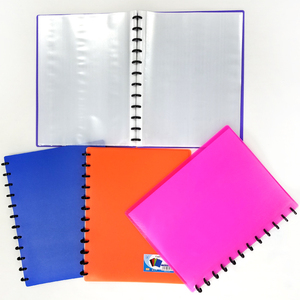 School Stationery Eco-Friendly PP File Refillable Display Book 20 30 40 60 Pockets