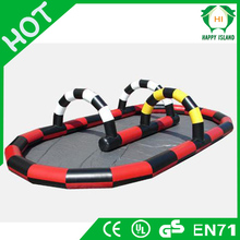 HI 0.55mm PV funny inflatable athletics race track games