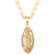 Catholicism Guadalupe Virgin Mary Cubic Zirconia Religious Gold Plated Pendant  for Women Jewelry