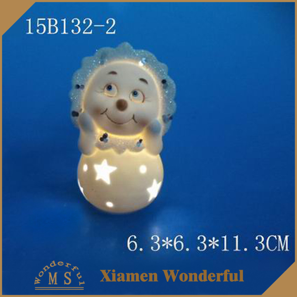 white porcelain figurine with led for christmas