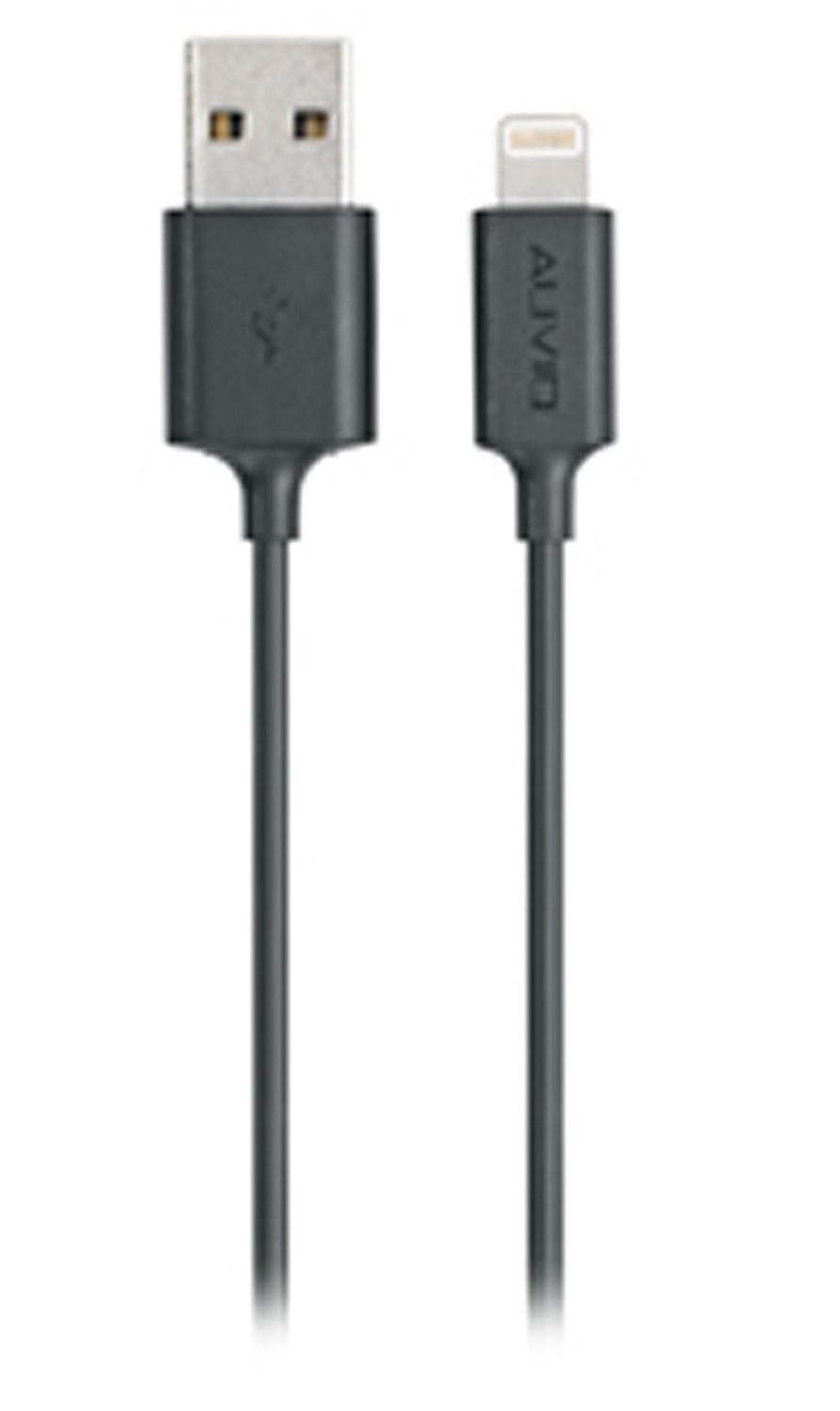 AUVIO 3-Ft. Apple Lightning to USB Cable Black
