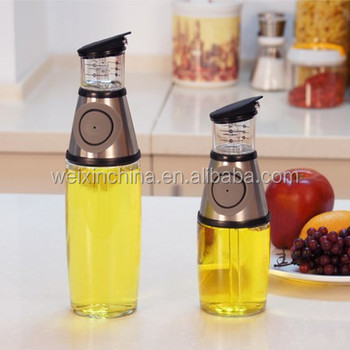 Exceptionnel Elemental Kitchen 250Ml Stock Glass Olive Cruet Oil And Vinegar Dispenser