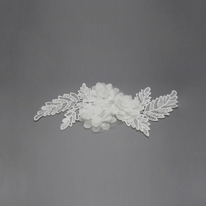 Fashion lace pair bridal flower applique