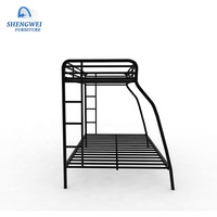 Low price double bed design furniture steel triple bunk bed