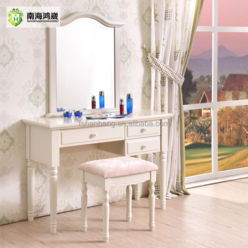 Modern White Wood Mdf Panel Simple Vanity Korean Furniture - Modern white dressing table