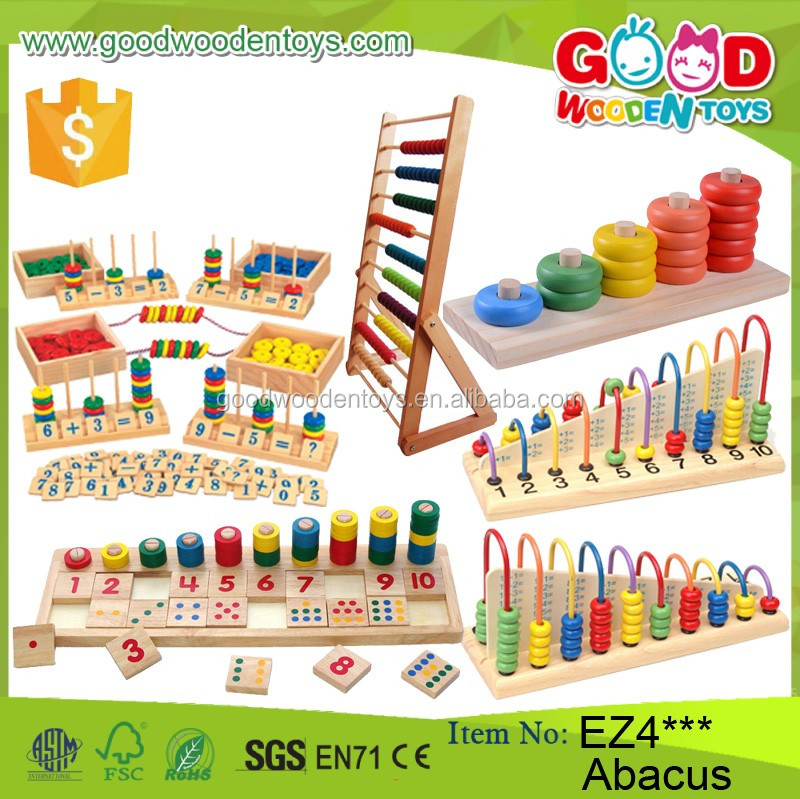 New Multifunction Children Wooden Abacus Frame Educational Beads ...