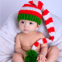 Hand crochet baby hats Christmas long tail cap