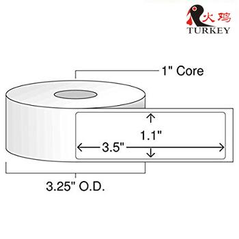 1 Inch Core - 3 5 X 1 Zebra Compatible Direct Thermal Labels 10 Rolls For  Zebra Desktop Printer Gc420d Gc420t Gk420d Gk420t - Buy Zebra Direct  Thermal