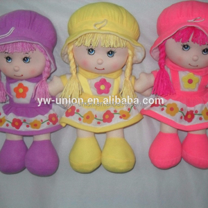 2015 new ICTI audited plush rag dolls/OEM plush cloth dolls stuffed plush rag/cloth dolls