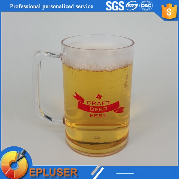 hottest logo custom non disposable 5oz plastic beer mugs and cups