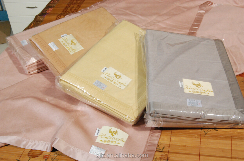 luxury silk satin silk velet blanket for babyadults