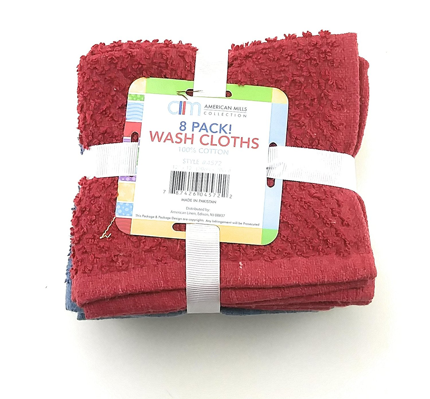8 pack American Mills Cotton Washcloths