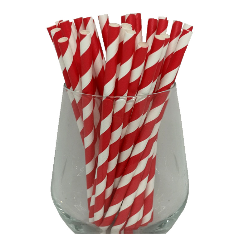 EU/FDA Certificate Disposable degradable Approved Customize Print 10*250MM 10 Inch Polka Dot Paper Straws