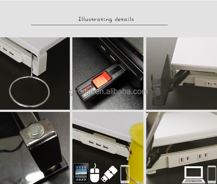 Neues design mit usb hubs plug glass monitor display for Beistelltisch usb