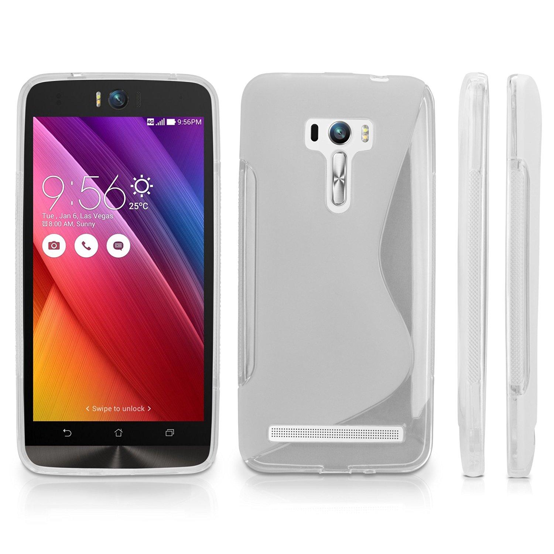 ASUS Zenfone Selfie ZD551KL Case, BoxWave® [DuoSuit] Ultra Durable TPU Case w/ Shock Absorbing Corners for ASUS Zenfone Selfie ZD551KL - Frosted Clear