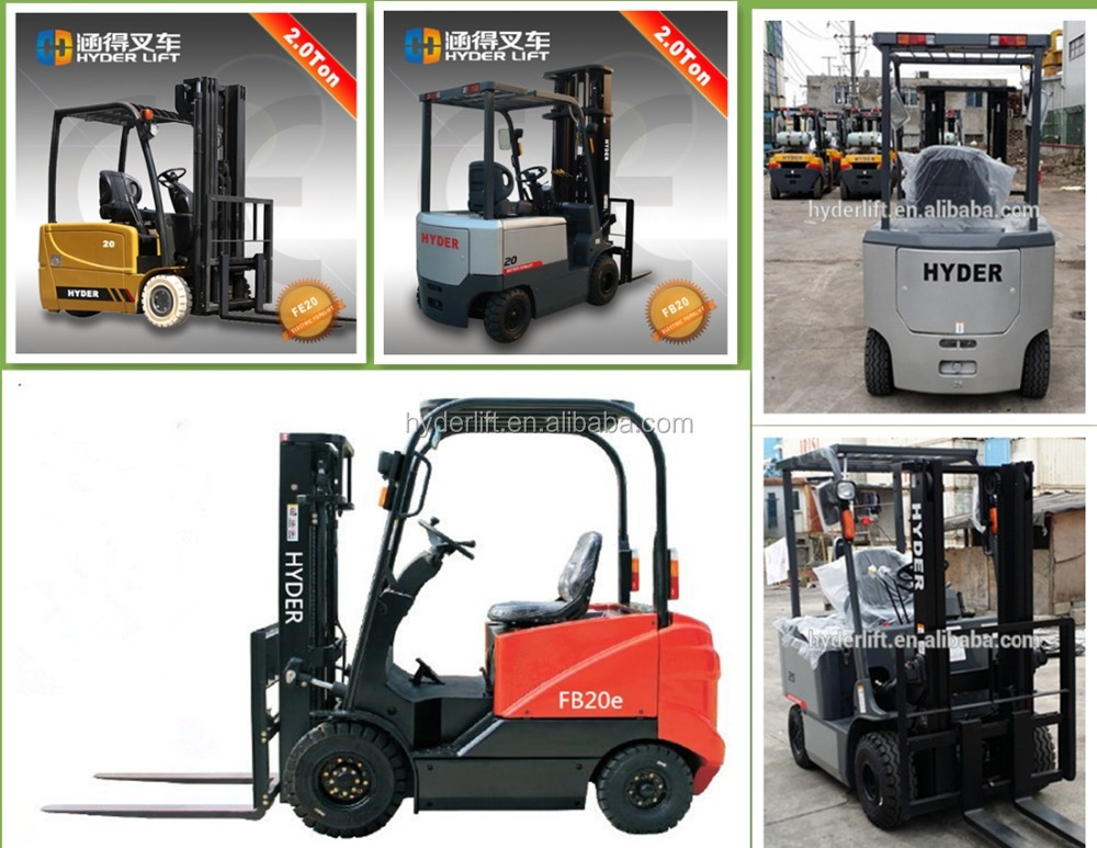 permit visa for europe 2000kg electric forklift with reliable separate excitation motor