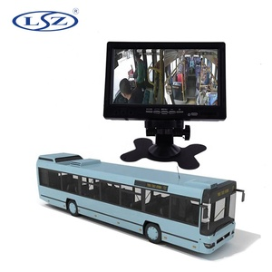 "7"" Rear View Car Screen Auto Vehicle School Bus Tractor 7 Inch Lcd Monitor For 1080P Backup Camera"