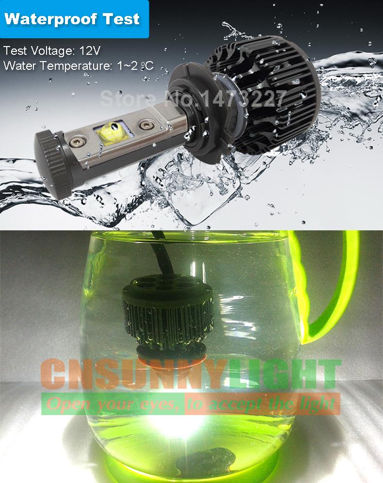 CNSUNNYLIGHT Car Headlights H7 LED Bulb Auto Front Bulb 60W  7200LM Automobiles Fog Headlamp 3000K 4300K 6000K 8000K With EMC (5)