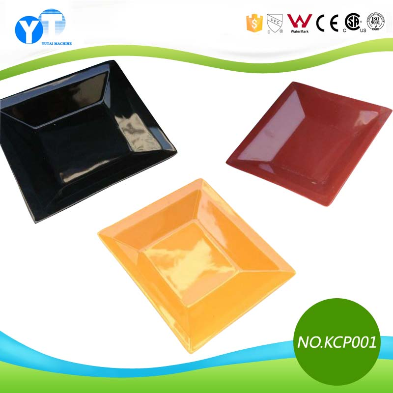 Stock Colorful High Quality Square Ceramic Plate