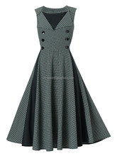 1950s evening rockabilly swing dress cocktail party dress