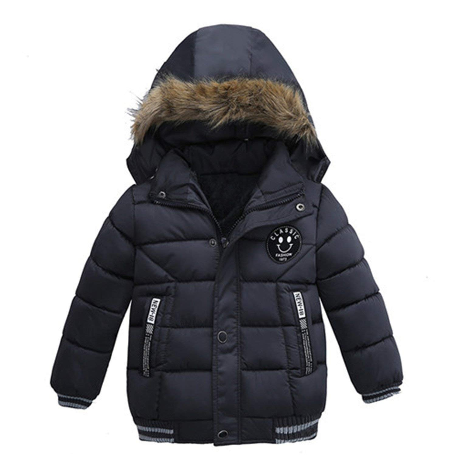 16d1991bb Get Quotations · Mofgr Baby Winter Coat Kids Warm Winter Outerwear Hooded  Children Down Jackets Cotton Coat