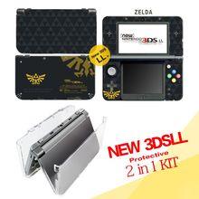 2 in1 Kit for Nintendo New 3DSLL/XL ( Zelda Vinyl Skin Sticker Protector + Spit Crystal Case) , skins Stickers