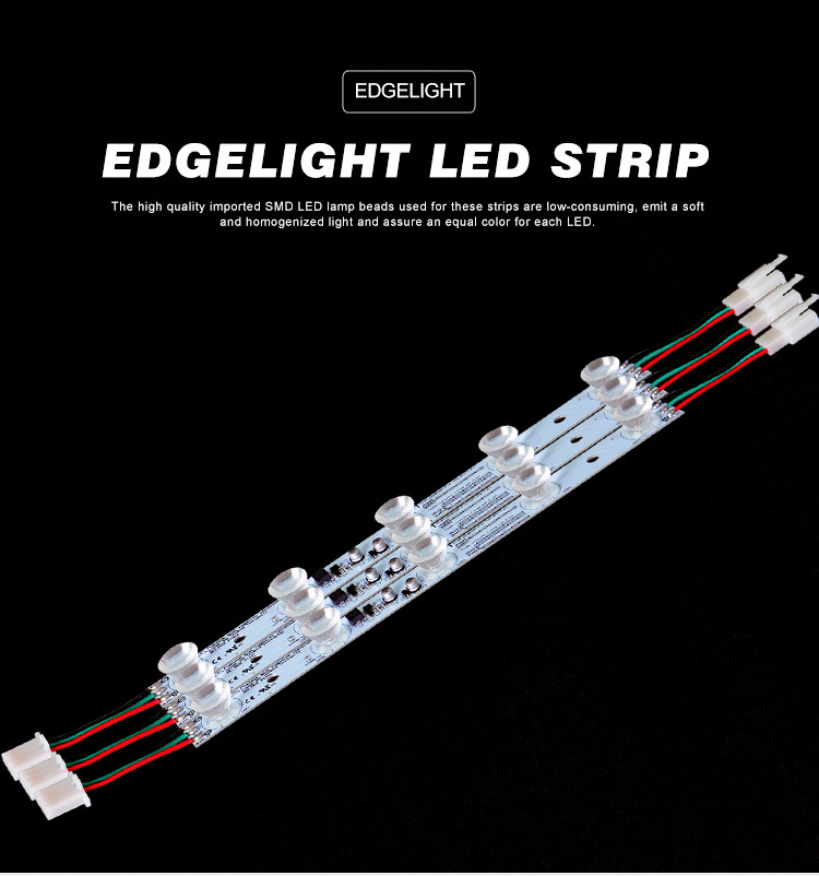 Edgelight Ultra Heldere Aluminium Led Strip Verlichting Bar 470 Mm Led Licht Bar