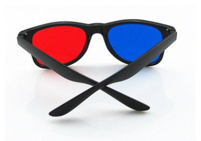 China Factory Hot Sale Classic Red/Blue Lenses Vintage 3D Glasses Whole Promotion 3D Sunglasses