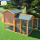 Wholesale large outdoor wooden chicken/ducks/rabbits coop with run