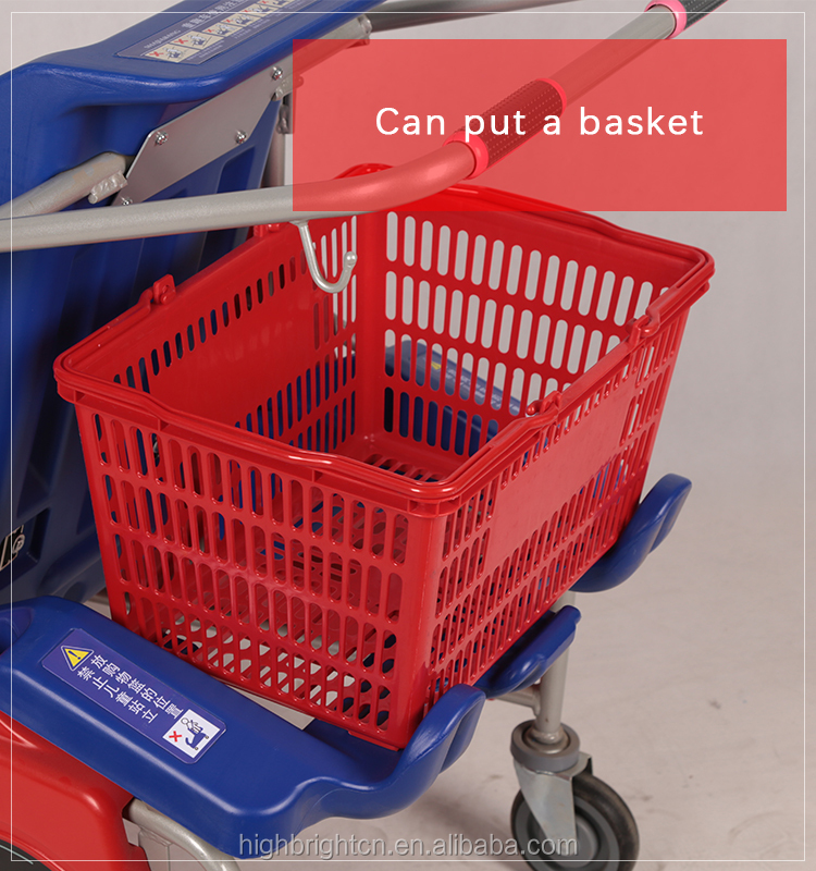 Miniature Supermarket Shopping Hand Trolley Cart for Kids Role Play
