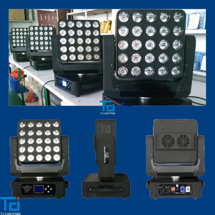 LCD touch screen 25pcs 25w RGBW led flash led moving head pixel led moving head