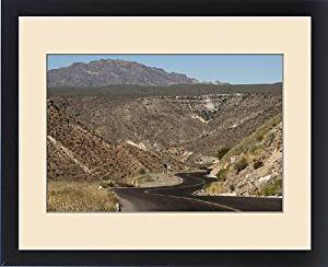 Framed Print of Desert road near Santa Rosalia, Baja California, Mexico, North America