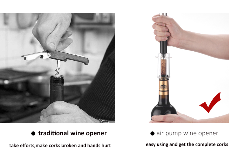 Bar Accessories Unique Air Vacuum Pump Wine Opener Air Pressure Bottle Opener