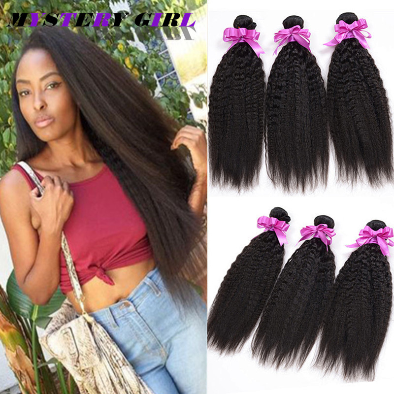 Mongolian Virgin Human Hair Top Selling Kinky Straight Hair Yaki