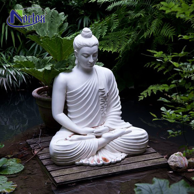 Garden Stone Carving Sculpture Life Size Meditating White Marble Sitting Buddha Outdoor Statues For Sale Buy Modern Outdoor Park Temple Decoration White Marble Large Buddha Statues Sitting For Sale Large Hand Carved Natural
